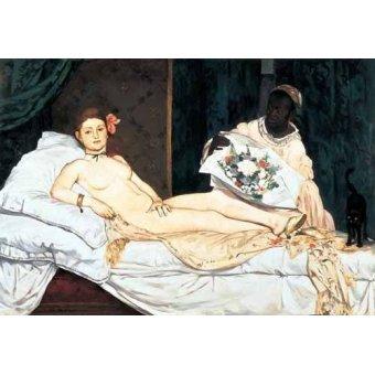 cuadros de desnudos - Cuadro -Olympia, 1863- - Manet, Eduard