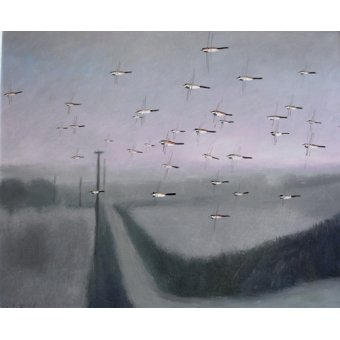 cuadros de paisajes - Cuadro -Flock, 2012 (oil on canvas)- - Baird, Charlie