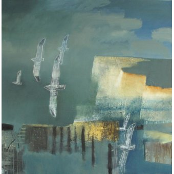 cuadros de paisajes - Cuadro -Gulls, 2015 (oil on canvas)- - Baird, Charlie
