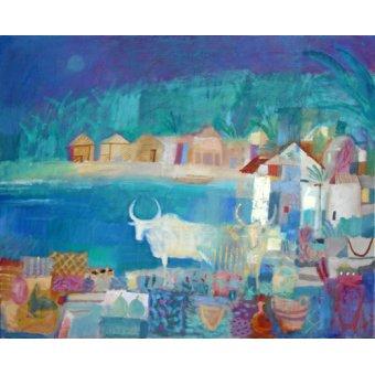 cuadros de paisajes - Cuadro -Market Cow, 2010 (oil on canvas)- - Baird, Charlie