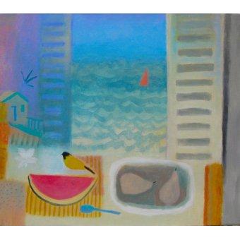 cuadros de bodegones - Cuadro -Watermelon, 2016 (oil on canvas)- - Baird, Charlie