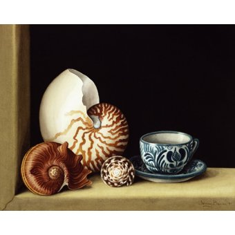 - Cuadro -Still life with Nautilus, 1998 (w.c on paper)- - Barron, Jenny