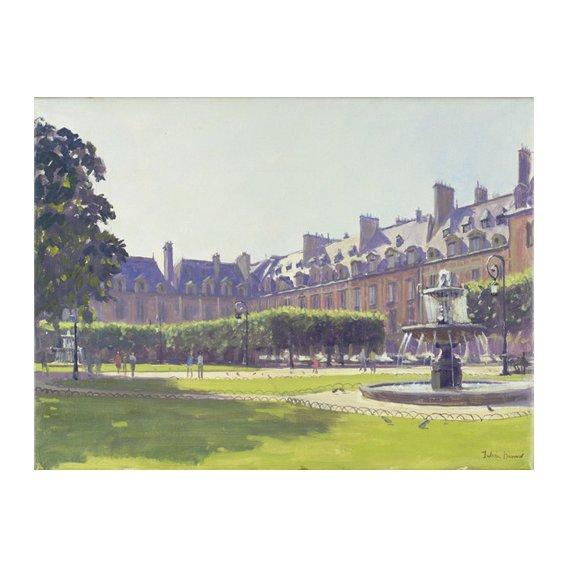 Cuadro -Place des Vosges, Paris (oil on canvas) -
