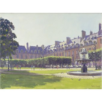 cuadros de paisajes - Cuadro -Place des Vosges, Paris (oil on canvas) - - Barrow, Julian