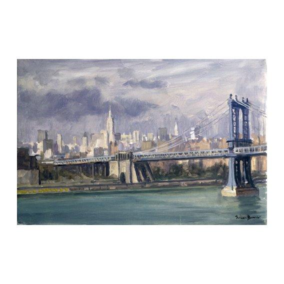 Cuadro -Manhattan Bridge, New York, 1996 (oil on canvas)-