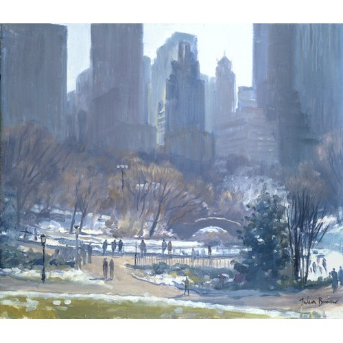 Cuadro -Winter in Central Park, New York, 1997 (oil on canvas)-