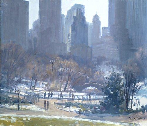 cuadros-modernos - Cuadro -Winter in Central Park, New York, 1997 (oil on canvas)- - Barrow, Julian