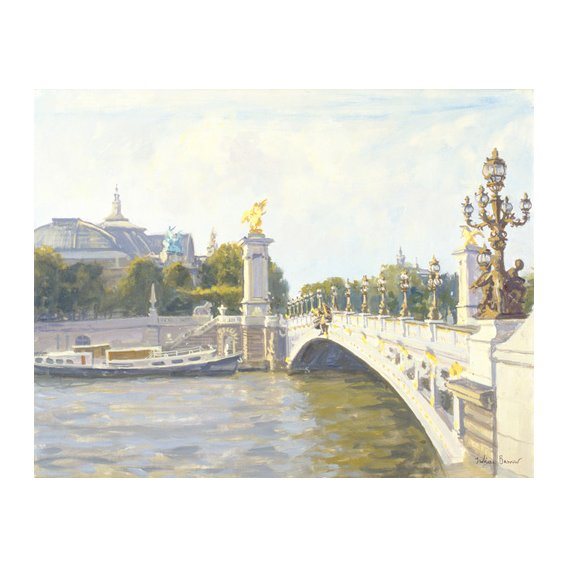 Cuadro -Pont Alexandre III, Paris (oil on canvas)-