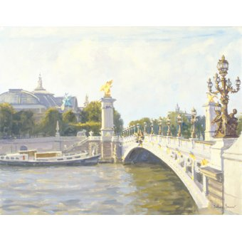 cuadros de paisajes - Cuadro -Pont Alexandre III, Paris (oil on canvas)- - Barrow, Julian