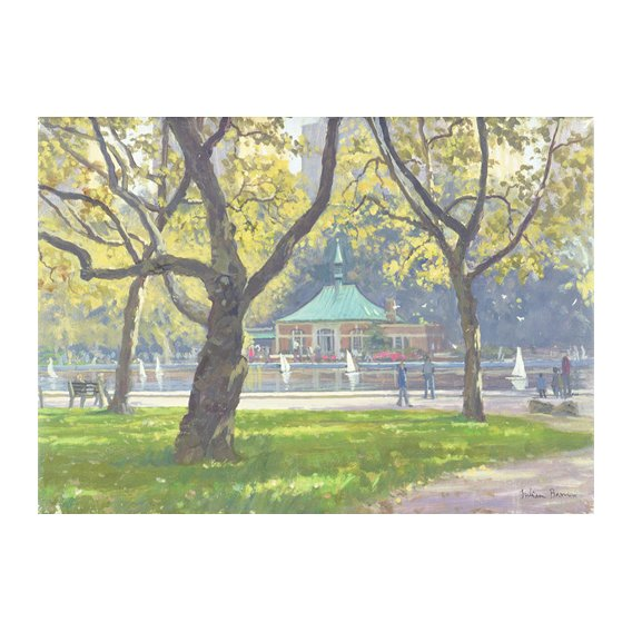 Cuadro -Boat Pond, Central Park (oil on canvas)-
