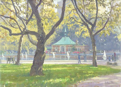 cuadros-modernos - Cuadro -Boat Pond, Central Park (oil on canvas)- - Barrow, Julian