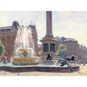 cuadros de paisajes - Cuadro -Trafalgar Square, London (oil on canvas)- - Barrow, Julian