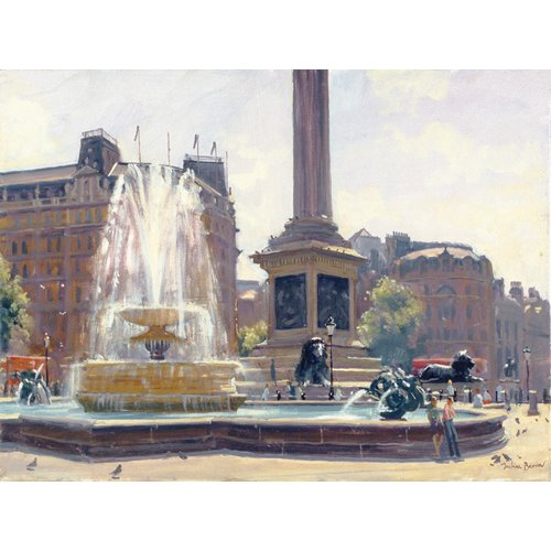 Cuadro -Trafalgar Square, London (oil on canvas)-