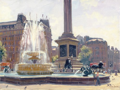 cuadros-modernos - Cuadro -Trafalgar Square, London (oil on canvas)- - Barrow, Julian