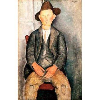 cuadros de retrato - Cuadro -El pequeño campesino- - Modigliani, Amedeo