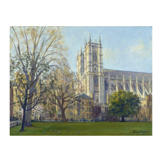 Cuadro -Westminster Abbey from Dean's Yard (oil on canvas)-
