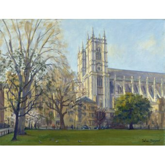 cuadros de paisajes - Cuadro -Westminster Abbey from Dean's Yard (oil on canvas)- - Barrow, Julian