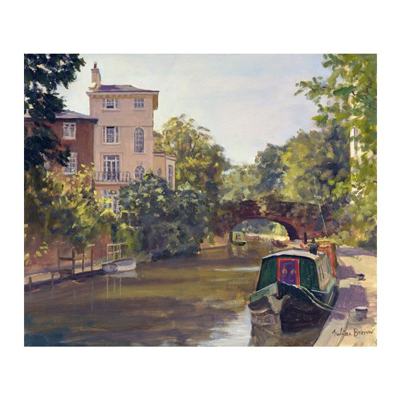 Cuadro -Regent's Park Canal (oil on canvas)-