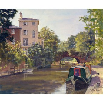 cuadros modernos - Cuadro -Regent's Park Canal (oil on canvas)- - Barrow, Julian