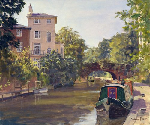 cuadros-modernos - Cuadro -Regent's Park Canal (oil on canvas)- - Barrow, Julian
