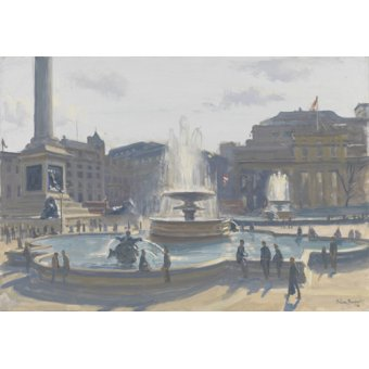 cuadros de paisajes - Cuadro-Trafalgar Square, 2010 (oil on canvas)- - Barrow, Julian