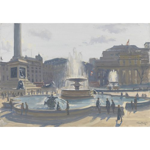 Cuadro-Trafalgar Square, 2010 (oil on canvas)-