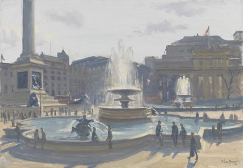 cuadros-modernos - Cuadro-Trafalgar Square, 2010 (oil on canvas)- - Barrow, Julian