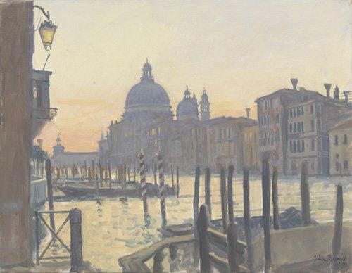 cuadros-modernos - Cuadro -Sunrise Grand Canal, 2009 (oil on canvas)- - Barrow, Julian