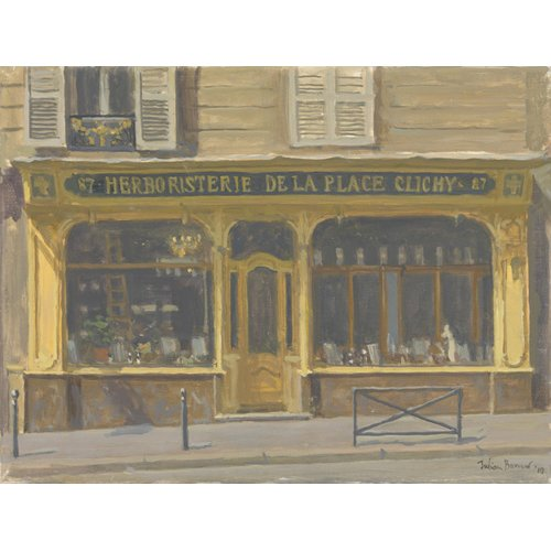 Cuadro -Herboristerie de la Place Clichy, 2010 (oil on canvas)-