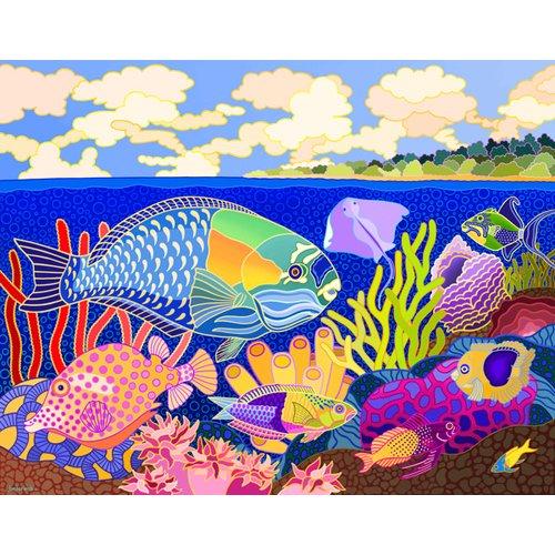 Cuadro -Cayman Calypso, 1997, acrylic gouache on canvas-
