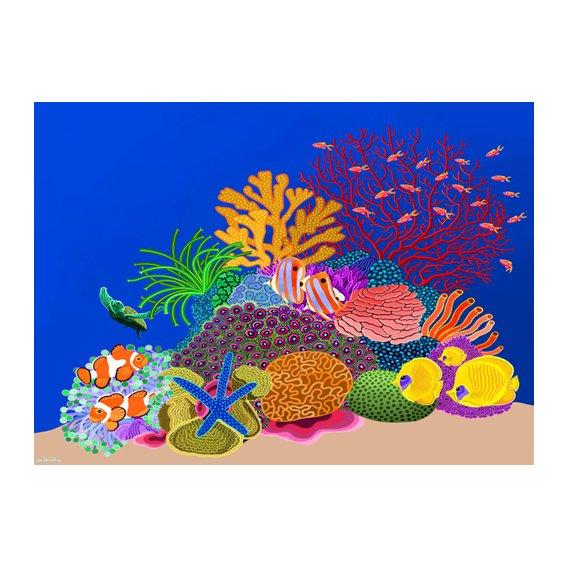 Cuadro -Coral head, Great Barrier Reef, Australia, 2015, acrlylic gouache on canvas-