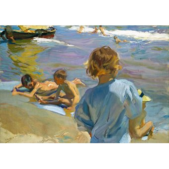 cuadros de marinas - Cuadro - Niños en la playa, 1916 - - Sorolla, Joaquin
