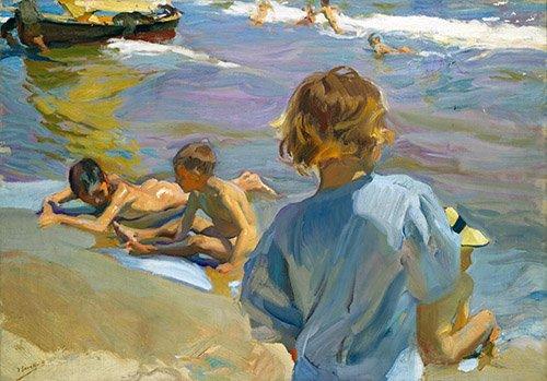 cuadros-de-marinas - Cuadro - Niños en la playa, 1916 - - Sorolla, Joaquin