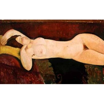 cuadros de desnudos - Cuadro -Desnudo femenino acostado- - Modigliani, Amedeo
