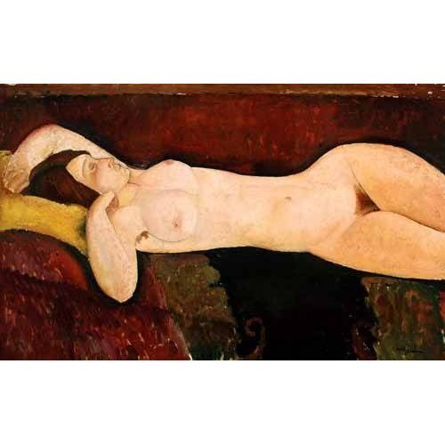 cuadros de retrato - Cuadro -Desnudo femenino acostado-