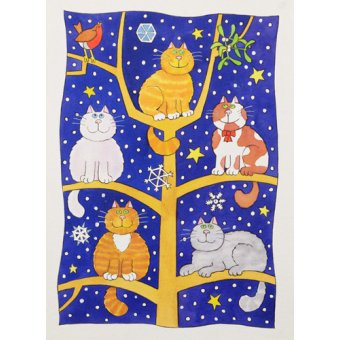 - Cuadro -Five Christmas Cats- - Baxter, Cathy
