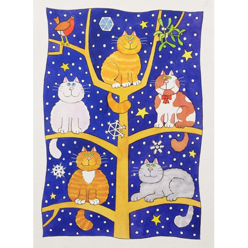 Cuadro -Five Christmas Cats-
