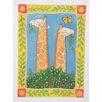 cuadros infantiles - Cuadro -Giraffes- - Baxter, Cathy