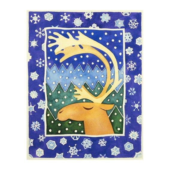 Cuadro -Reindeer and Snowflakes-
