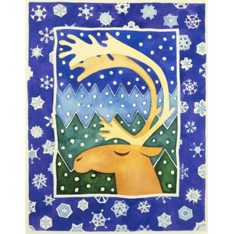 cuadros infantiles - Cuadro -Reindeer and Snowflakes- - Baxter, Cathy