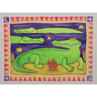 cuadros infantiles - Cuadro -Crocodiles- - Baxter, Cathy