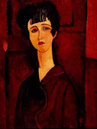 cuadros-de-retrato - Cuadro -Retrato de una chica- - Modigliani, Amedeo