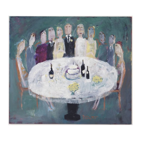 Cuadro -Wedding Breakfast, 2007 (oil on board)-