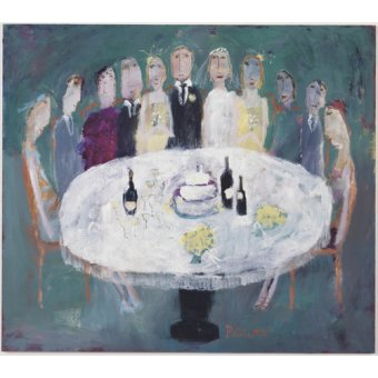 cuadros de retrato - Cuadro -Wedding Breakfast, 2007 (oil on board)- - Bower, Susan