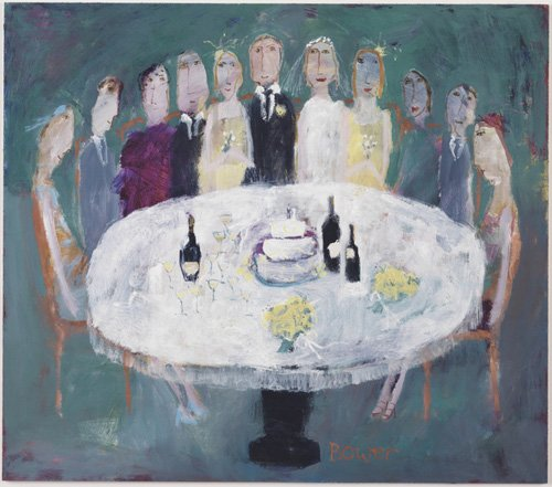 cuadros-modernos - Cuadro -Wedding Breakfast, 2007 (oil on board)- - Bower, Susan