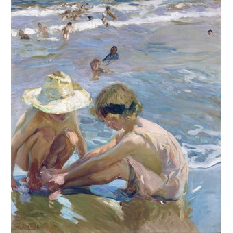 cuadros infantiles - Cuadro - El pie herido, 1909 - - Sorolla, Joaquin