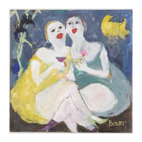 Cuadro-Friday Night Girls, 2007 (oil on board)-