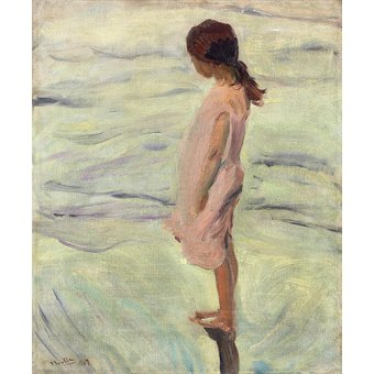cuadros de marinas - Cuadro - Despues de puesto el sol, 1907 - - Sorolla, Joaquin