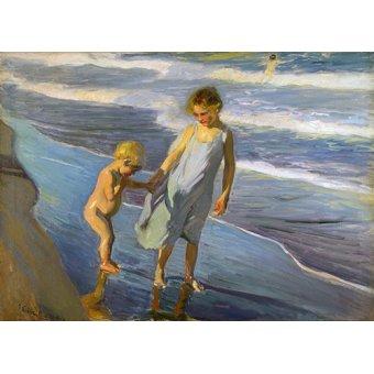cuadros de marinas - Cuadro - Dos niños en una playa - - Sorolla, Joaquin