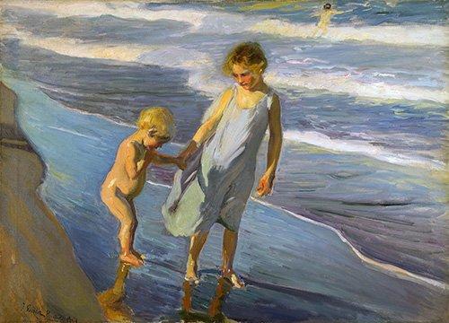 cuadros-de-marinas - Cuadro - Dos niños en una playa - - Sorolla, Joaquin